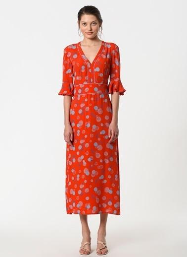 Özlem Kaya Elbise Kırmızı